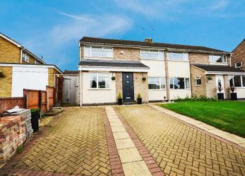 Thumbnail 3 bed semi-detached house for sale in Belper Close, Oadby, Leicester