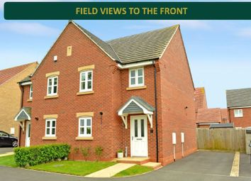 Thumbnail 3 bed semi-detached house for sale in Holly Close, Great Glen, Leicester