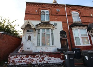 Thumbnail 4 bed end terrace house for sale in Holder Road, Sparkhill, Birmingham