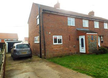 Thumbnail 3 bed semi-detached house for sale in Burghwood Close, Mileham, King's Lynn