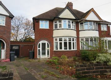 Thumbnail Semi-detached house for sale in Romilly Avenue, Handsworth Wood, Birmingham