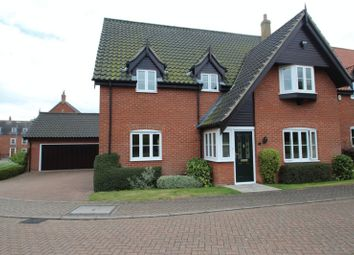 Thumbnail 4 bed detached house for sale in Mulberry Close, Poringland, Norwich
