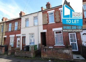 Thumbnail 2 bedroom terraced house to rent in Spencer Road, Luton