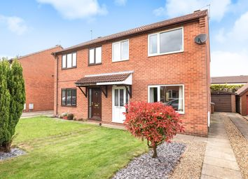 Thumbnail 3 bed semi-detached house for sale in Wilson Close, Market Weighton, York