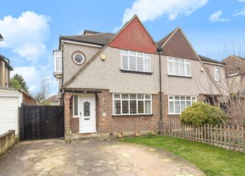 Thumbnail 4 bed semi-detached house for sale in Ewell Park Way, Stoneleigh, Epsom
