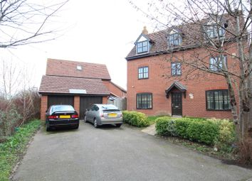 Thumbnail 5 bed detached house for sale in Upper Wood Close, Shenley Brook End, Milton Keynes