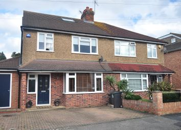 Thumbnail 4 bed semi-detached house for sale in Hythe Field Avenue, Egham, Surrey