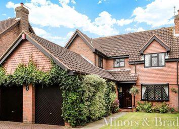 Thumbnail 4 bed detached house for sale in Broadmead Green, Thorpe End, Norwich