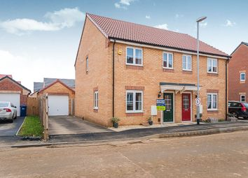 Thumbnail 3 bedroom semi-detached house for sale in Dandelion Drive, Whittlesey, Peterborough
