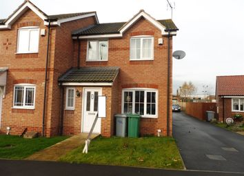 Thumbnail 3 bed end terrace house for sale in Woodbank Close, Bilsthorpe, Newark