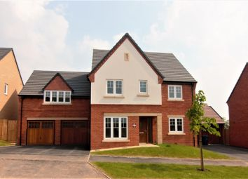 Thumbnail 5 bed detached house for sale in Knightley Road, Gnosall, Stafford