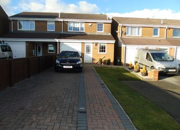 Thumbnail 3 bed semi-detached house for sale in Coverdale, Wallsend
