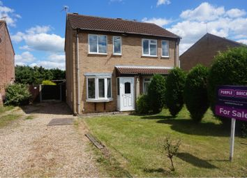 Thumbnail 2 bed semi-detached house for sale in Roxholm Close, Sleaford