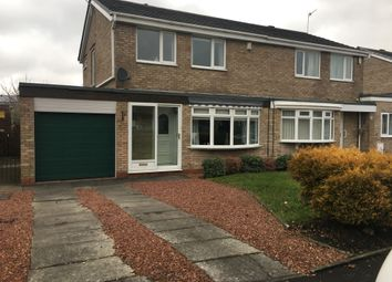 Thumbnail 3 bed semi-detached house to rent in Denham Drive, Seaton Delaval, Whitley Bay