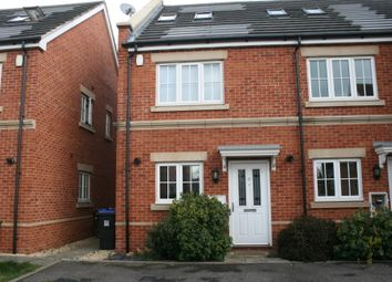 Thumbnail 3 bed town house to rent in Derisley Close, West Byfleet