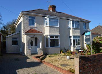 Thumbnail 3 bedroom semi-detached house to rent in Brookvale Road, West Cross, Swansea