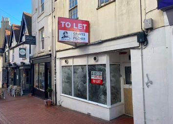Retail premises to let in Market Street, Brighton BN1