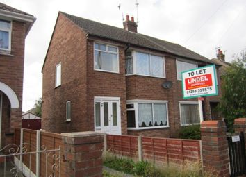 Thumbnail 3 bedroom semi-detached house to rent in Bangor Avenue, Blackpool