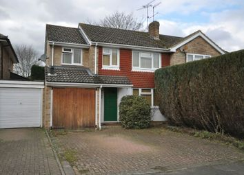 Thumbnail 4 bed semi-detached house for sale in Quentin Road, Woodley, Reading