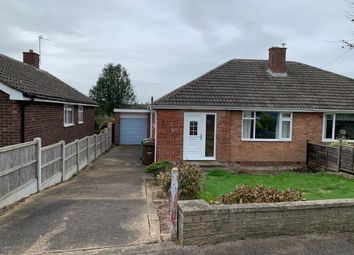 Thumbnail 2 bed semi-detached bungalow for sale in Hallgarth Road, Thorpe Audlin, Pontefract
