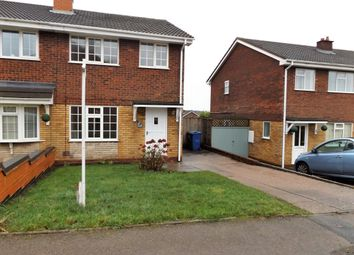 Thumbnail 3 bed semi-detached house to rent in Linwood Drive, Hednesford, Cannock