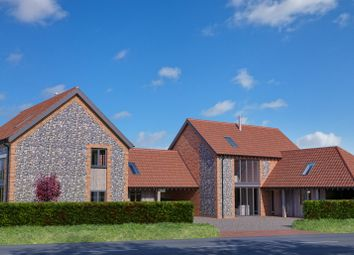 Thumbnail 3 bed link-detached house for sale in Station Road, Docking, King's Lynn