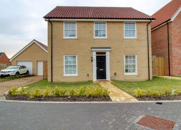 Thumbnail 4 bed detached house for sale in Dudley Close, Watton, Thetford
