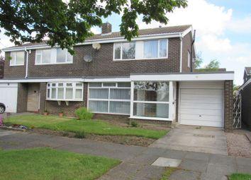 Thumbnail 3 bedroom semi-detached house for sale in Cramond Way, Cramlington