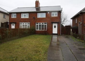 Thumbnail 3 bed semi-detached house to rent in Harden Road, Walsall