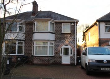 Thumbnail 3 bed semi-detached house to rent in Ivyfield Road, Erdington, Birmingham