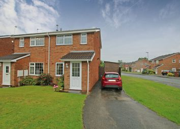Thumbnail 2 bed semi-detached house for sale in Highgrove Close, Stretton, Burton-On-Trent