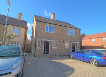 Thumbnail 2 bed semi-detached house for sale in Arnold Rise, Biggleswade