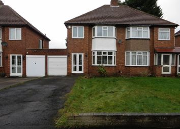 Thumbnail 3 bed semi-detached house to rent in Bonner Drive, Walmley, Sutton Coldfield