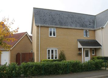 Thumbnail 3 bedroom semi-detached house for sale in Viscount Close, Diss, Norfolk