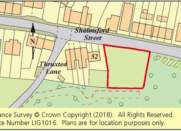 Thumbnail Land for sale in Land Adj. 52 Shalmsford Street, Chartham, Canterbury, Kent