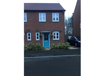 Thumbnail 2 bed town house for sale in 13, Woodbrig Close, Lutterworth, Leicestershire