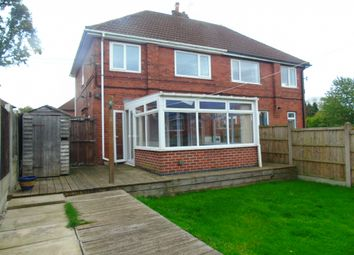 Thumbnail 3 bed semi-detached house to rent in Glebe Av, Pinxton, Nottingham