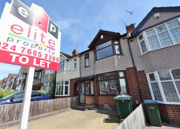 Thumbnail 3 bed terraced house to rent in Lincroft Crescent, Chapelfields, Coventry