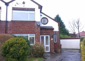 Thumbnail 3 bed semi-detached house to rent in Granville Gardens, Didsbury, Manchester