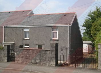 Thumbnail 2 bed end terrace house to rent in Swansea Road, Waunarlwydd, Swansea
