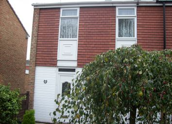 Thumbnail 3 bed town house to rent in Lockerbie Avenue, Rushy Mead, Leicester