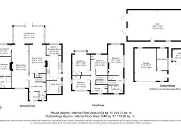 Thumbnail 5 bed equestrian property for sale in Church Road, Catsfield, Battle, East Sussex