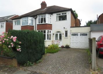 Thumbnail 3 bed semi-detached house for sale in Bibury Road, Hall Green, Birmingham