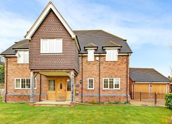 Thumbnail 5 bed detached house to rent in Marlston Road, Hermitage, Thatcham