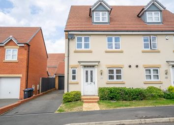 Thumbnail 4 bed semi-detached house for sale in Aspen Close, Great Glen, Leicester