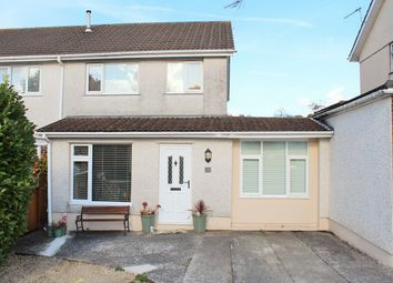 Thumbnail 3 bed semi-detached house for sale in Clos Melin Mynach, Garden Village, Swansea