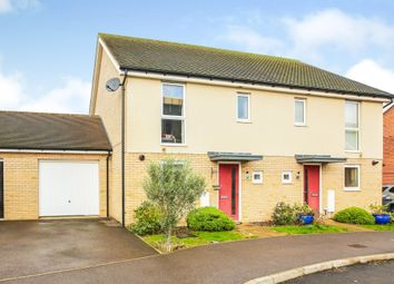Thumbnail 3 bed semi-detached house for sale in Mustang Drive, Upper Cambourne, Cambridge