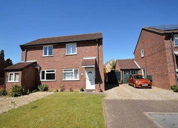Thumbnail 1 bedroom semi-detached house for sale in Mill Croft Close, New Costessey, Norwich