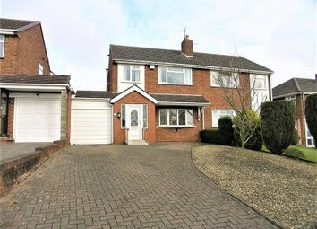 Thumbnail 3 bed semi-detached house for sale in Longfellow Road, The Straits, Lower Gornal