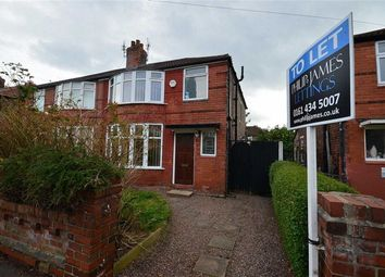 Thumbnail 3 bedroom semi-detached house to rent in Haslemere Road, Withington, Manchester, Greater Manchester